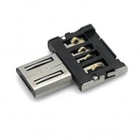 Super Tiny USB 2.0 Hi-Speed OTG Adapter A-Buchse - Micro B-Stecker