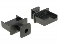 Staubschutz für USB Typ-A Buchse mit Griff 10 Stück schwarz