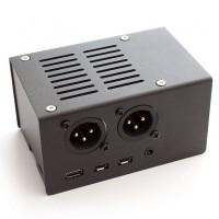 Stahl Gehäuse für HiFiBerry DAC+ XLR und Raspberry Pi 4 - schwarz