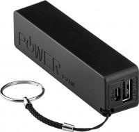 Powerbank 2000mAh, mit Schlüsselanhänger, schwarz