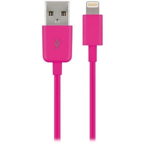 goobay Lightning Kabel (MFi) 1,0m pink