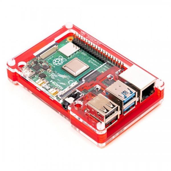 PiBow Coupé Gehäuse für Raspberry Pi 4, Red
