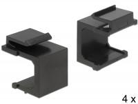 Keystone Abdeckung schwarz 4 Stück
