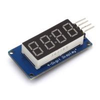 7 Segment LED Display Modul, I2C Schnittstelle, TM1637, 14mm, rot