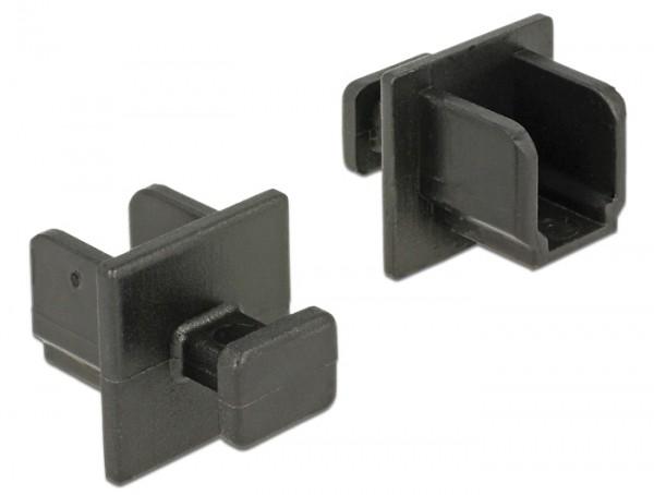 Staubschutz für USB 3.0 Typ-B Buchse mit Griff 10 Stück schwarz