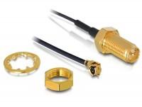 Antennenkabel RP-SMA Buchse zum Einbau - MHF/U.FL kompatibler Stecker 350 mm