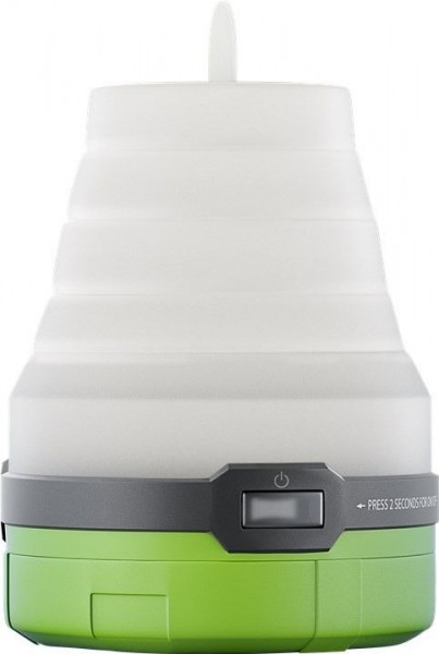 3in1 LED Campingleuchte, faltbar, grün-weiß