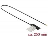 WLAN Antenne MHF IV /HSC MXHP32 kompatibler Stecker 802.11 ac/a/h/b/g/n CCD 1 dBi 250 mm intern