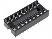 IC-Sockel, 18-polig, RM:2,54mm, THT