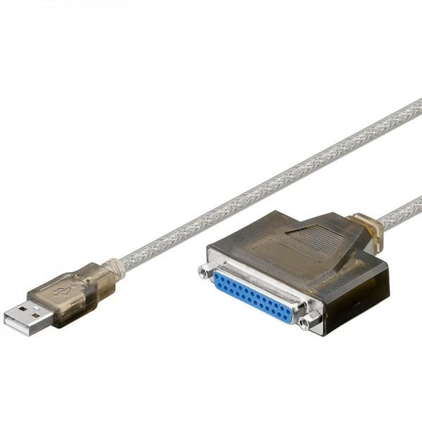 USB zu Parallel Konverter USB A Stecker - 25-pol. D-Sub Buchse