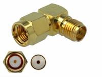 Adapter SMA Stecker zu SMA Buchse 90° 3 GHz
