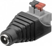 Terminalblock 2-pin > DC-Buchse (5,50 x 2,10 mm) - push-down Klemmbefestigung