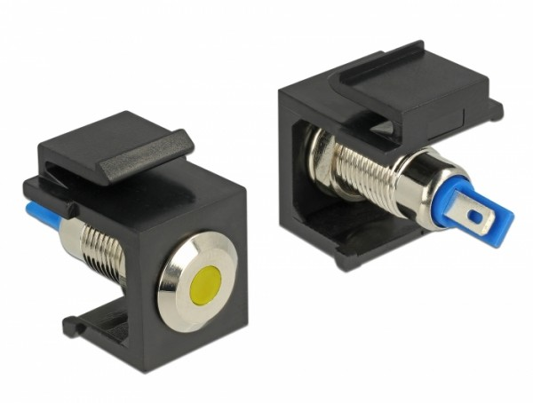 Keystone LED gelb 6V flach, schwarz