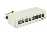 Keystone Desktop Patchpanel 8 Port grau
