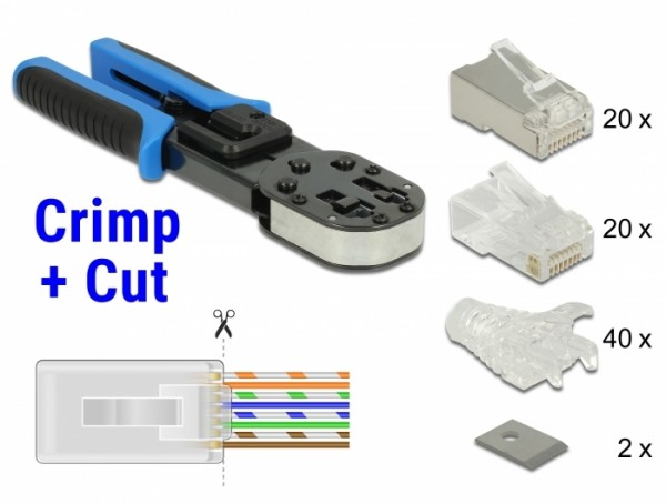 RJ45 Crimp+Cut Werkzeugset