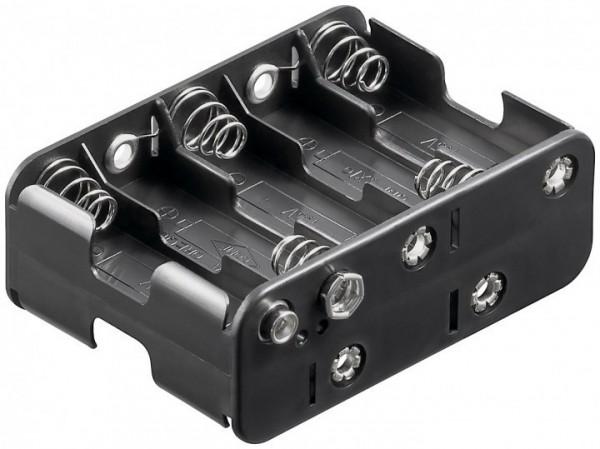 Batteriehalter für 10x Mignon AA mit Druckknopfanschluss