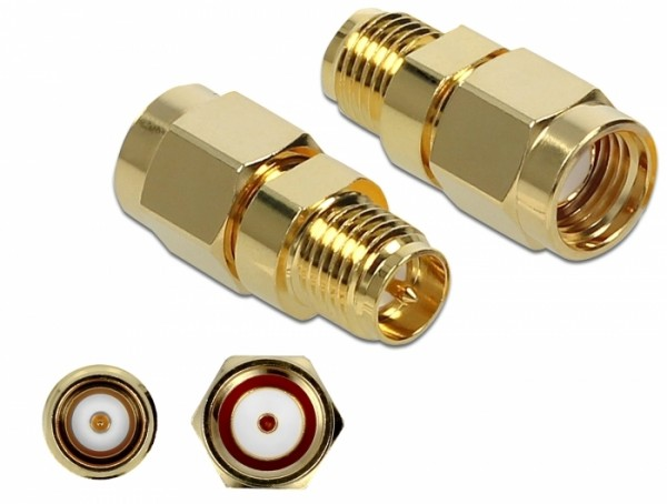 Adapter RP-SMA Stecker zu RP-SMA Buchse 10 GHz