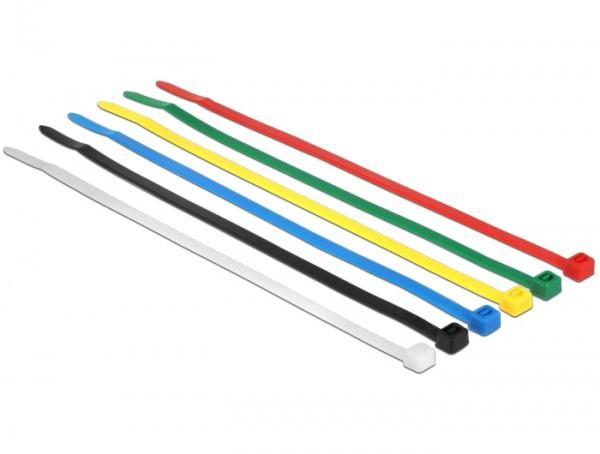 Kabelbinder, 200 x 3,6mm, farbig, 100 Stück