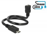 Shape USB 2.0 Hi-Speed OTG Verlängerungskabel Micro B Stecker – Micro B Buchse schwarz