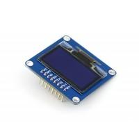 "1.3"" 128x64 OLED Display Modul, einfarbig (blau), SPI/I2C Interface, vertikale Stiftleiste"