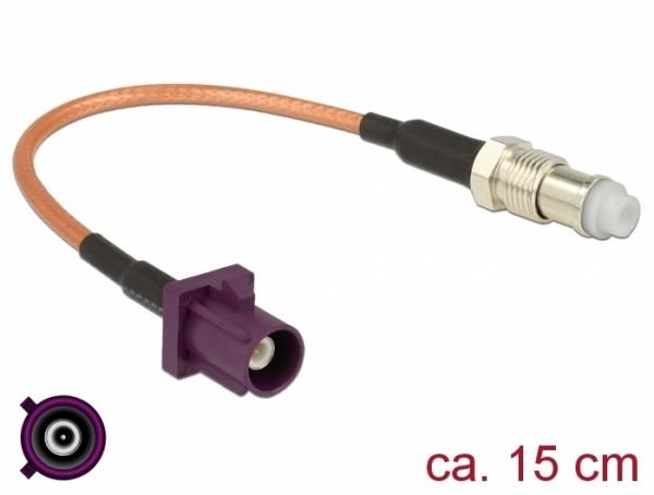 Antennenkabel FAKRA D Stecker - FME Buchse RG-316 15 cm