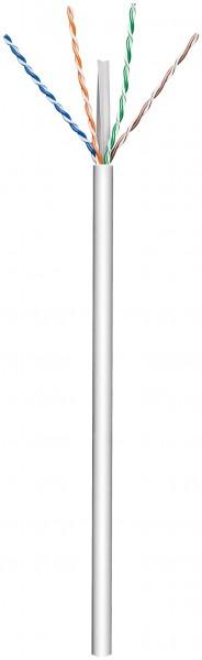 CAT 6 Netzwerkkabel, U/UTP, Grau, 100 m - CCA, AWG 23/1 (solid), PVC
