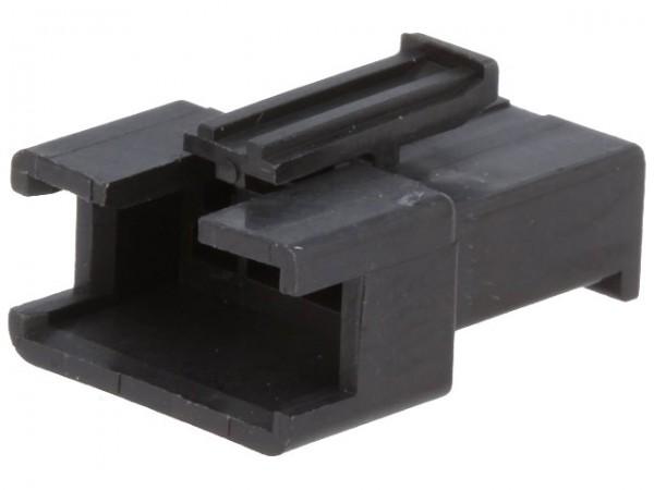 Steckverbinder Gehäuse kompatibel zu JST SMR-04V-B, männlich, 4 Pin, schwarz