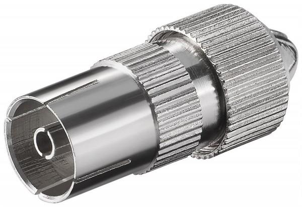 IEC/Koax-Kupplung, Schraubbefestigung, Metallausführung