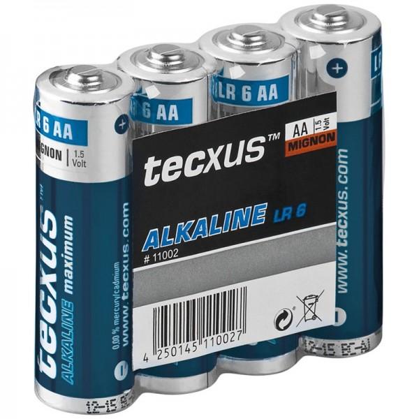 tecxus Batterien Alkaline Mignon AA
