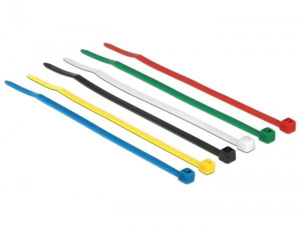 Kabelbinder, 100 x 2,5mm, farbig, 100 Stück