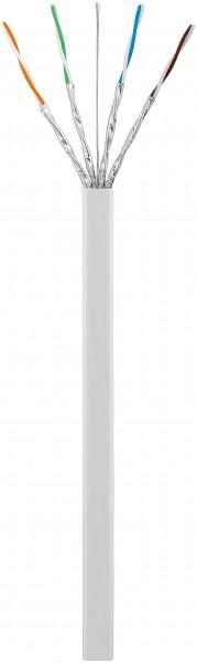 CAT 7 flaches Netzwerkkabel, U/FTP, Weiß, 50 m - CU, AWG 27/7 (stranded), PVC