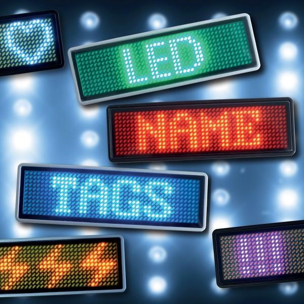 LED Name Tag, 11x44 Pixel, USB