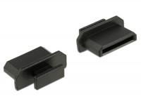 Staubschutz für HDMI mini-C Buchse mit Griff 10 Stück schwarz