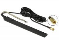 DAB+ Antenne SMB Stecker 23 dBi aktiv omnidirektional schwarz Klebemontage outdoor
