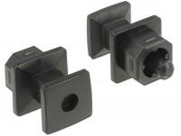 Staubschutz für TOSLINK Buchse mit Griff 10 Stück schwarz