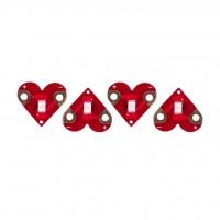 teknikio Heart LEDs 4er-Pack