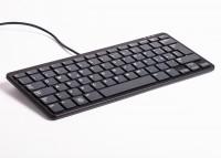 offizielle Raspberry Pi Tastatur, IT-Layout, inkl. 3 Port USB Hub, schwarz/grau