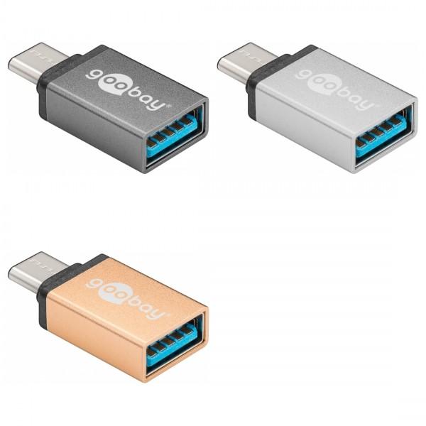 USB-C 3.0 Adapter, Metall, C Stecker – A Buchse
