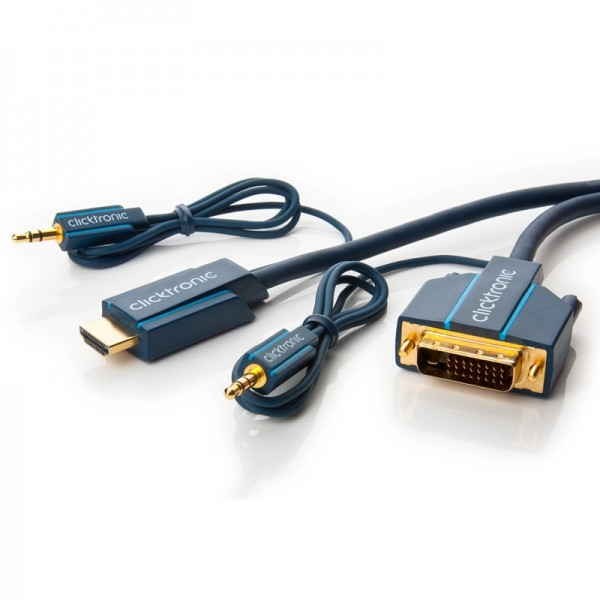 Clicktronic Casual HDMI / DVI und Audio- Adapterkabel