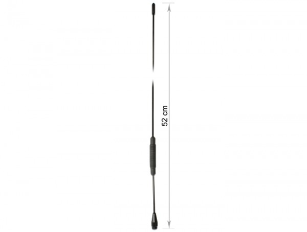TETRA BOS Antenne 380 - 410 MHz 2,5 dBi 52,2 cm omnidirektional Schraubmontage