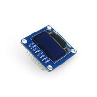 "0.96"" 128x64 OLED Display Modul, zweifarbig (gelb/blau), SPI/I2C Interface, vertikale Stiftleiste"