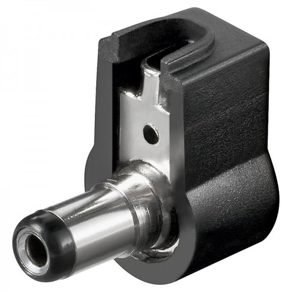 DC-Stecker / Winkelstecker / Bohrung 2,1x5,5 mm - Lötmontage