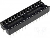 IC-Sockel, 28-polig, RM:2,54mm, THT