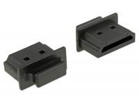 Staubschutz für HDMI-A Buchse mit Griff 10 Stück schwarz