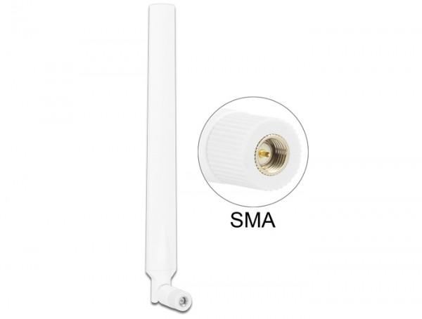 LTE Antenne SMA 0 ~ 4 dBi omnidirektional drehbar mit Kippgelenk weiß