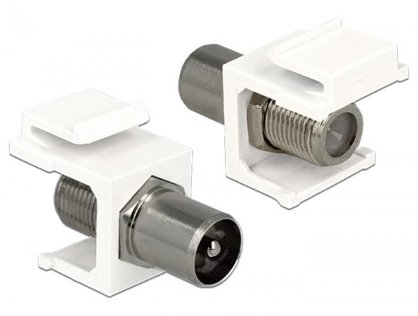 Keystone IEC Stecker > F Buchse