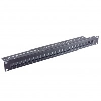 Keystone Patchpanel, 24 Port, slim, schwarz