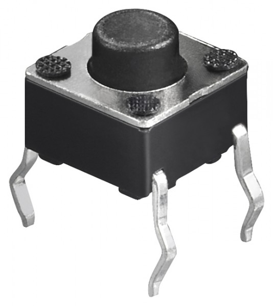 Kurzhubtaster, vertikale Printmontage, 6x6mm, H 5,0mm