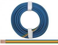 Vierlingslitze isoliert, 4x0,14mm, 5m - Farbe: blau, gelb, rot, grün