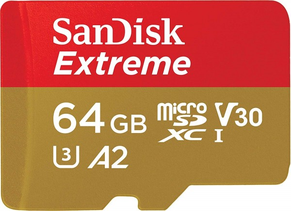 SanDisk Extreme microSDXC A2 UHS-I U3 V30 Speicherkarte + Adapter 64GB